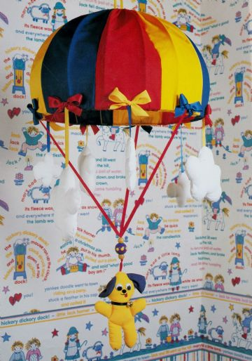 PDF Vintage Sewing Pattern A Puppy Parachute Lampshade for Children